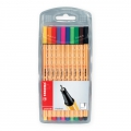 Easel case x 10 felt pens STABILO Point 88 - standard colors