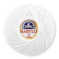 Cotton crochet thread Babylo 10 DMC White x 530 m