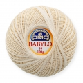 Cotton crochet thread Babylo 10 DMC Ecru x 530 m