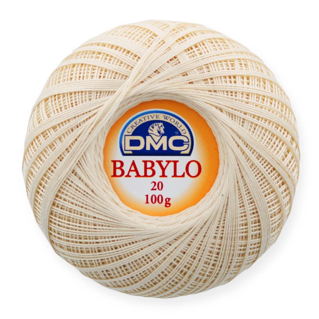 Cotton Crochet Thread Babylo 20 Dmc Ecru X 530 M Perles Co
