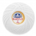 Cotton crochet thread Babylo 20 DMC White x 530 m