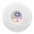 Cotton crochet thread Babylo 30 DMC White x 530 m