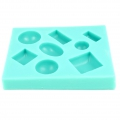 Silicone mold for polymer clay/clay cabochon Oval/Round/Square/Rectangle