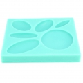 Silicone mold for polymer clay/clay cabochons Oval/Round