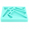 Silicone mold for polymer clay/clay cabochons Ethnic Triangle