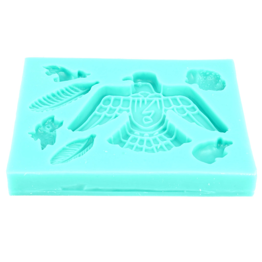 Mini silicone mold for polymer clay Feathers