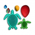 Silicone mold for polymer clay/clay Turtles marines/cabochons drop