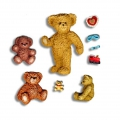 Silicone mold for polymer clay/clay Teddy Bear