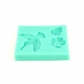 Silicone mold for polymer clay/clay Hummingbird/Flower/Leaf
