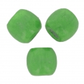 Wood round beads with large hole 18x16 mm Green x20