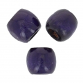 Wood round beads with large hole 16 mm Purple x20