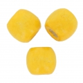 Wood round beads with large hole 16 mm Yellow x20