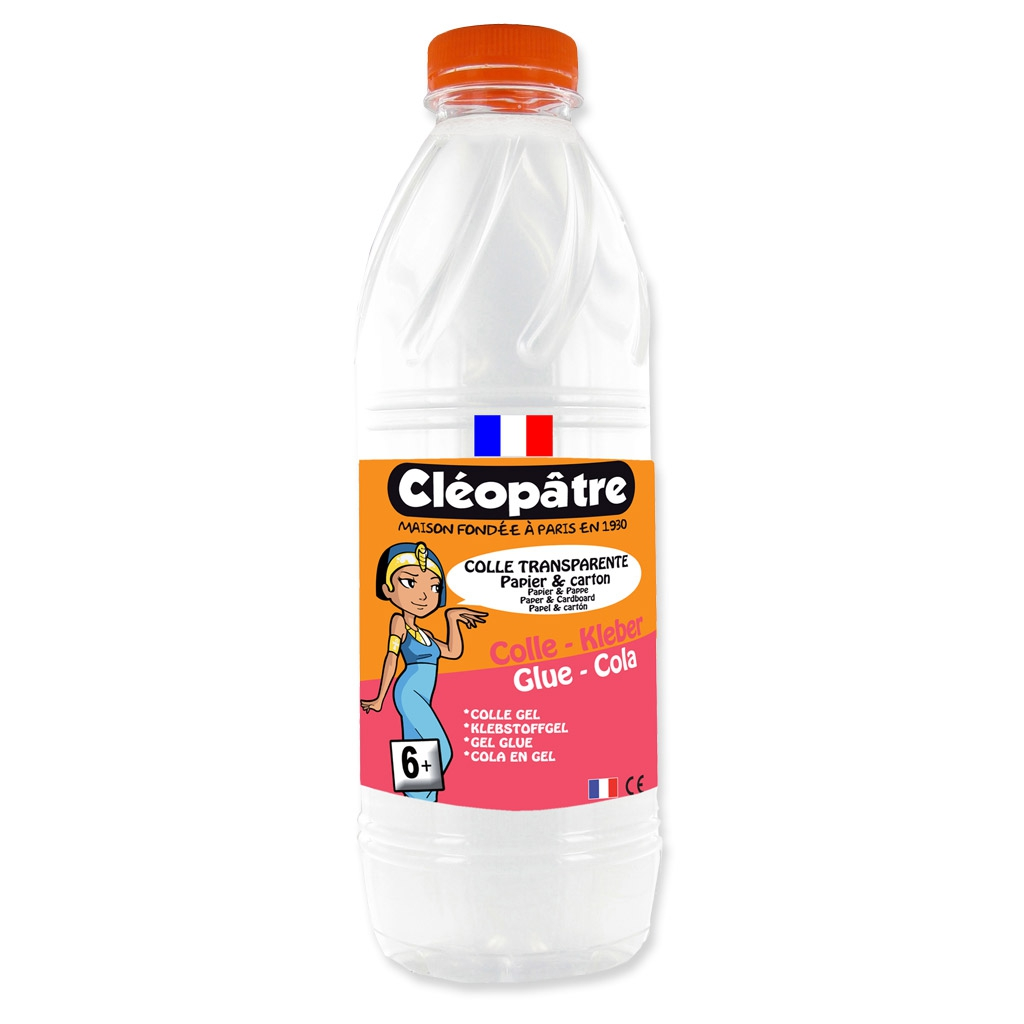 cléopâtre adhesive strong transparent glue for slime and diy x1 kg