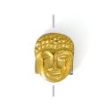 Hematite bead Head of Buddha 8.5x7x4 mm Dorado x1