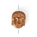 Hematite bead Head of Buddha 8.5x7x4 mm Dark Bronze x1
