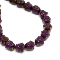 Hematite bead Head of Buddha 8x8x7 mm Purple Iris x1