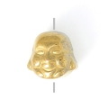 Hematite bead Head of Buddha 8x8x7 mm Dorado x1