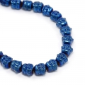 Hematite bead Head of Buddha 8x8x7 mm Blue Metallic x1