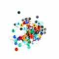 Stick-on rhinestones 3 mm for customization or creation - Multicolored x100