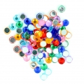 Stick-on rhinestones 4 mm for customization or creation - Multicolored x100