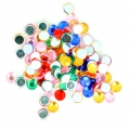 Stick-on rhinestones 5 mm for customization or creation - Multicolored x100