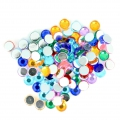 Stick-on rhinestones 6 mm for customization or creation - Multicolored x100