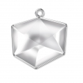 Pendant Setting for Swarovski cabochon 4933 Tilted Chaton 19 mm rhodium tone