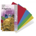 3 metal sheets of embossing paper 18,5x29 cm Blue/Red/Green/Silver/Gold