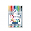 10 Triplus Felts 0.3 mm - STAEDTLER - Brillant Colours