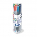 12 Triplus Fineliner felts of  0.3 mm - STAEDTLER - Brillant Colours