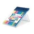 10 Triplus Fineliner felts of 1  mm - STAEDTLER - Brillant Colours