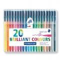 20 Triplus Fineliner felts of 1  mm - STAEDTLER - Brillant Colours