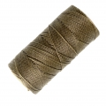 Linhasita wax thread bobbin for micro macramé 1 mm Khaki x180m