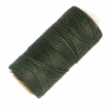 Linhasita wax thread bobbin for micro macramé 1 mm Vert Khaki x180m