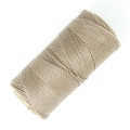 Linhasita wax thread bobbin for micro macramé 1 mm Natural Linen (05) x180m