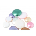 Glass Cabochon by Puca® 25 mm Gold Pearl x 1