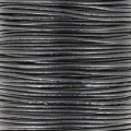 European Leather cord 1.5mm Black x1m