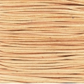 European Leather cord 1.5mm Natural x1m