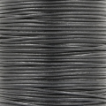European Leather cord 1mm Black x1m