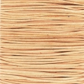 European Leather cord 1mm Natural x1m