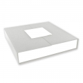 Magnetized gift box for necklace 16,5x16,5x3,5 cm cm Grey/White x1