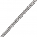 Brillante métal Braid Made in Italy 3.5 mm Gris / Silver x1m
