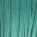 Brillant metal soutache braid Made in Italy 3.5 mm Turquoise / Gold x1m