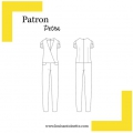 Sewing pattern Louis Antoinette combi trousers Petra