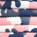 Tubular cotton cord 6 mm - camouflage Pink/Navy Blue/White x1m