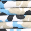 Tubular cotton cord 6 mm - camouflage Beige/Blue/White x1m