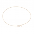 Very thin Bangle bracelet 62 mm Rose Gold Plated 3 microns x1