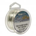 Copper soft Craft Wire 1,02 mm silver tone plated anti-tarnish x 3,65m