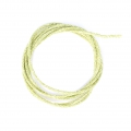 Light Green Cord 2mm with Gold tone thread x 1m