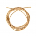 Golden Cord 2mm with Gold tone thread x 1m